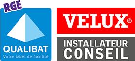 Logos Qualibat et Partenaire Velux